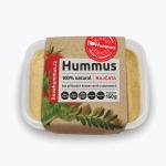 I love hummus paradajky