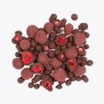 mrazom sušené maliny v čokoláde BRIX
