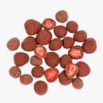 mrazom sušené jahody v čokoláde BRIX